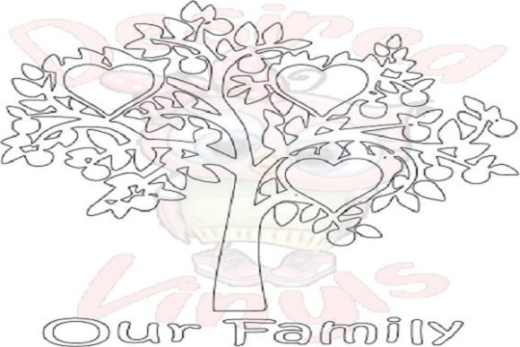 Download Free 3 Heart Family Tree Graphic By Desired Vinyls Creative Fabrica for Cricut Explore, Silhouette and other cutting machines.