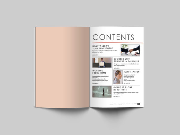 32 Page Business Magazine Template Graphic By denestudios Image 4