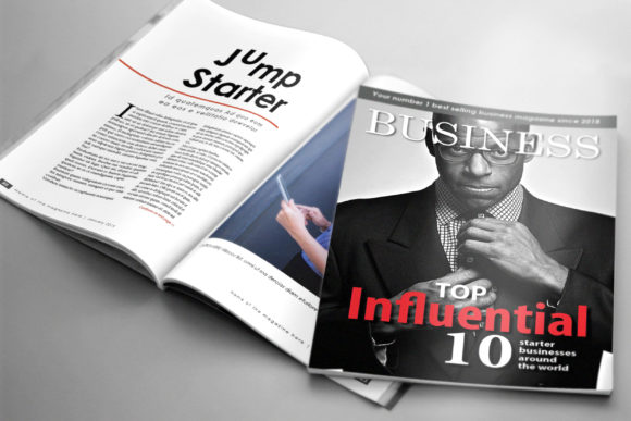 Print on Demand: 32 Page Business Magazine Template Graphic Print Templates By denestudios