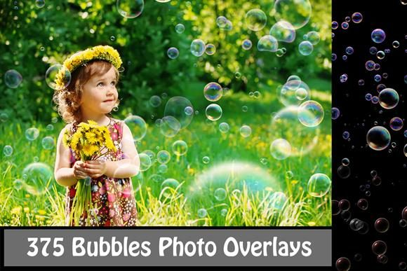 375 Bubbles Photo Overlays Graphic Objects By Lastwizard_Studio