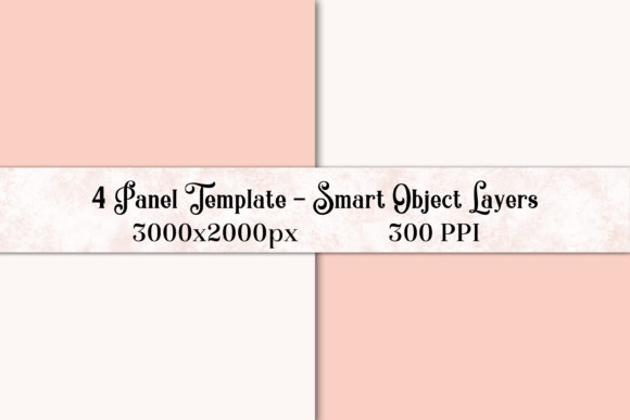 4 Panel PS Template with Smart Objects Graphic By SapphireXDesigns