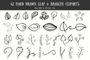 42 Leaf & Branche Handmade Cliparts Graphic By Creative Tacos
