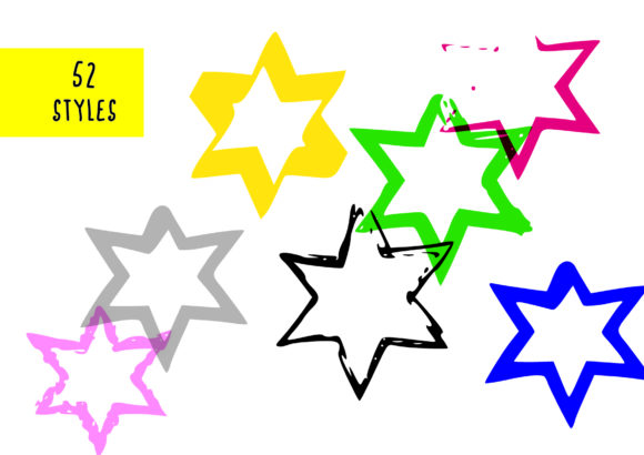 Print on Demand: 432 Hand Drawn Stars Graphic Objects By GraphicsBam Fonts - Image 3
