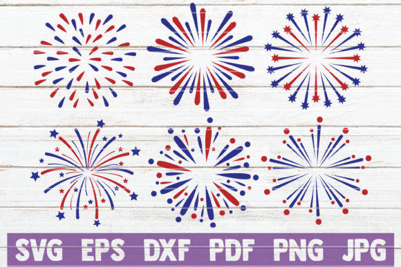 4th of July Fireworks SVG Bundle Graphic Graphic Templates By MintyMarshmallows