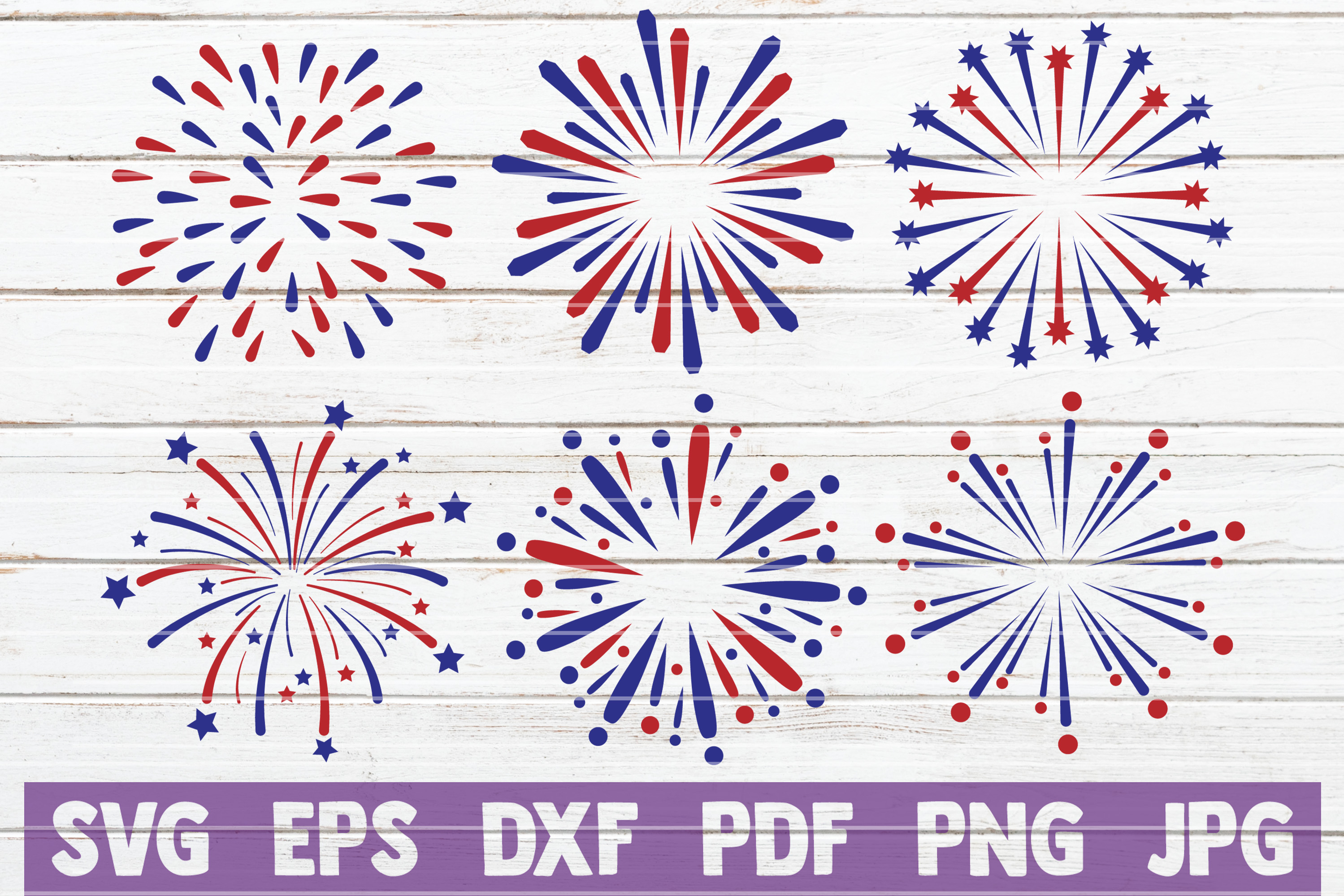 Download Free 4th Of July Fireworks Svg Bundle Graphic By Mintymarshmallows for Cricut Explore, Silhouette and other cutting machines.