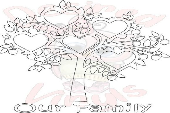 Download Free 5 Heart Family Tree Graphic By Desired Vinyls Creative Fabrica for Cricut Explore, Silhouette and other cutting machines.