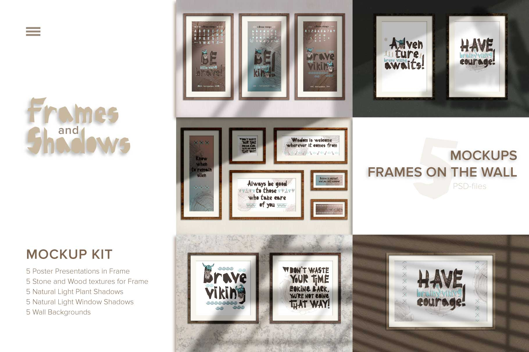 Download Free 5 Mockup Poster Presentations In Frame Graphic By Z Zajka for Cricut Explore, Silhouette and other cutting machines.