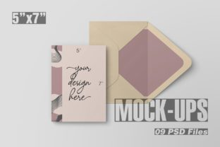 5x7 Inch Postcard & Envelope Mockup Graphic By graphiccrew