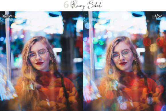 Print on Demand: 60 Rainy Bokeh Light Effect Photo Overly Graphic Textures By 3Motional - Image 2