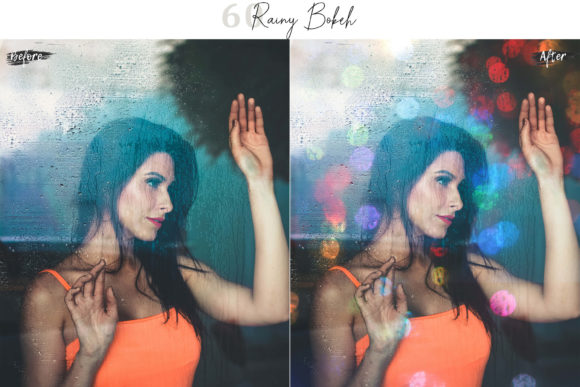 Print on Demand: 60 Rainy Bokeh Light Effect Photo Overly Graphic Textures By 3Motional - Image 3