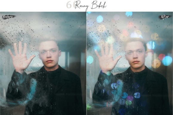 Print on Demand: 60 Rainy Bokeh Light Effect Photo Overly Graphic Textures By 3Motional - Image 5