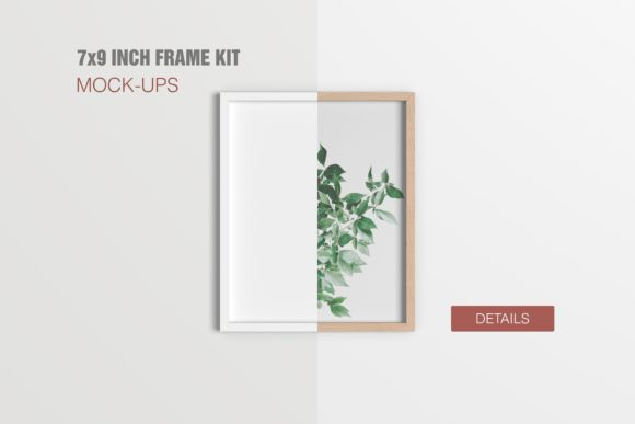 7x9 Inch Frame Mockups Graphic Product Mockups By graphiccrew