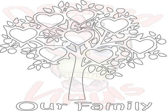 Download Free 8 Heart Family Tree Graphic By Desired Vinyls Creative Fabrica for Cricut Explore, Silhouette and other cutting machines.