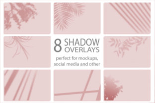 8 Shadows Mockup. Summer Background Graphic By Natalia Arkusha