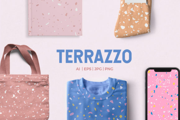 9 Trendy Terrazzo Patterns Graphic Patterns By abstractocreate
