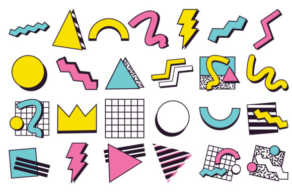 Print on Demand: 90's Design Clipart Graphic Icons By Mine Eyes Design - Image 2
