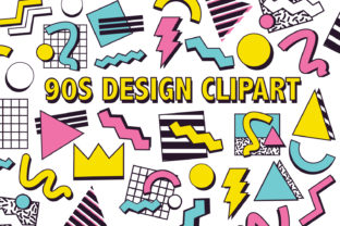 90's Design Clipart Graphic By Mine Eyes Design