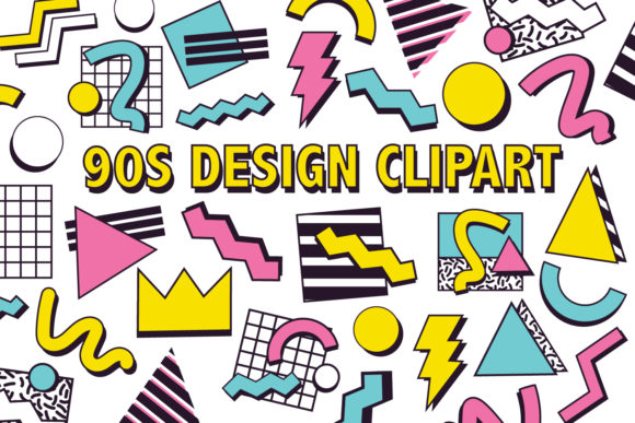 Print on Demand: 90's Design Clipart Graphic Icons By Mine Eyes Design