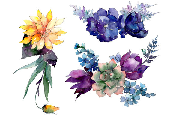 Print on Demand: A Bouquet of Flowers Limitless Joy Graphic Illustrations By MyStocks - Image 1