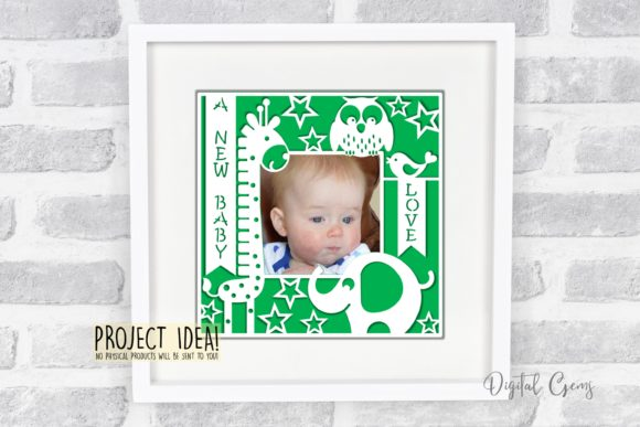 A New Baby Frame Design Graphic By Digital Gems Image 3