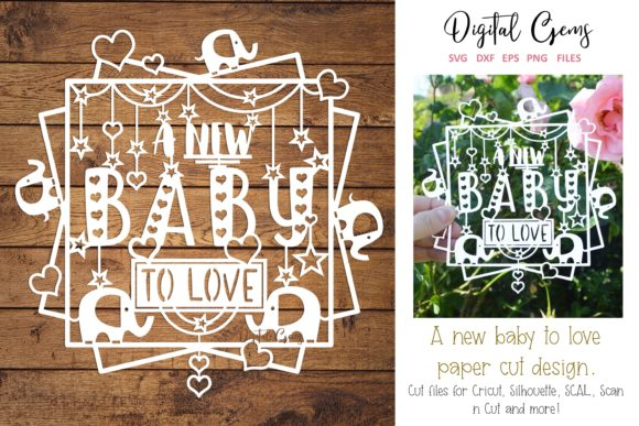 A New Baby Paper Cut Design Graphic Crafts By Digital Gems