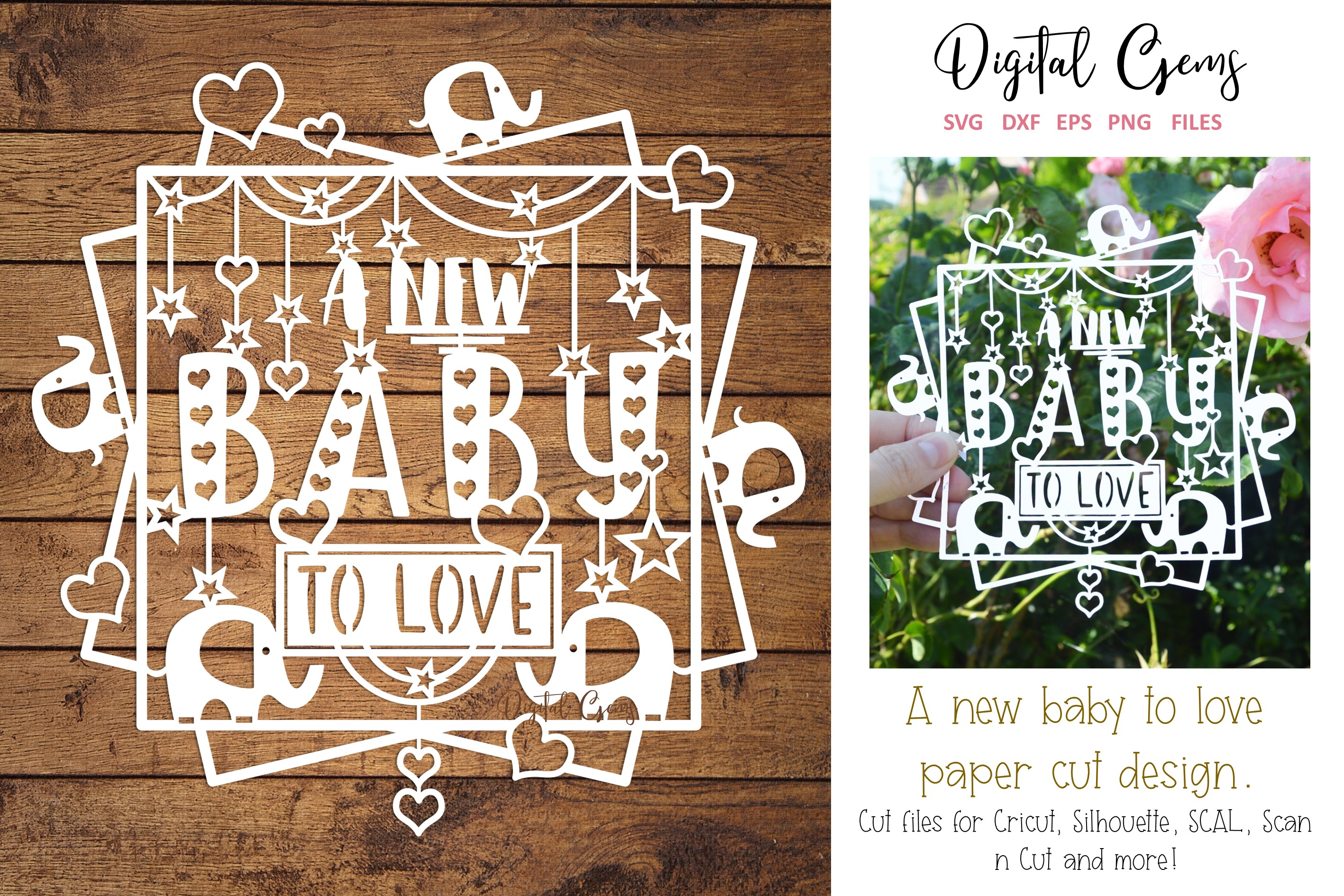 Download Free A New Baby Paper Cut Design Graphic By Digital Gems Creative SVG Cut Files