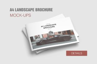 A4 Landscape Brochure/Magazine Mockups Graphic By graphiccrew