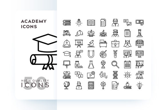 Print on Demand: Academy Icon Grafik Icons von Goodware.Std