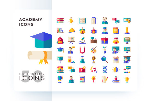 ACADEMY ICON Graphic Icons By Goodware.Std - Image 1