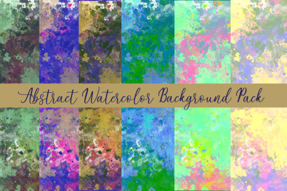 Print on Demand: Abstract Watercolor Background Gráfico Fondos Por BellaBoo