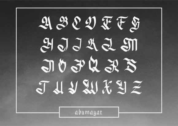 Print on Demand: Abumayat Blackletter Font By little scar - Image 2