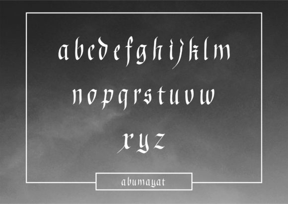 Print on Demand: Abumayat Blackletter Font By little scar - Image 3
