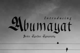 Abumayat Font By little scar