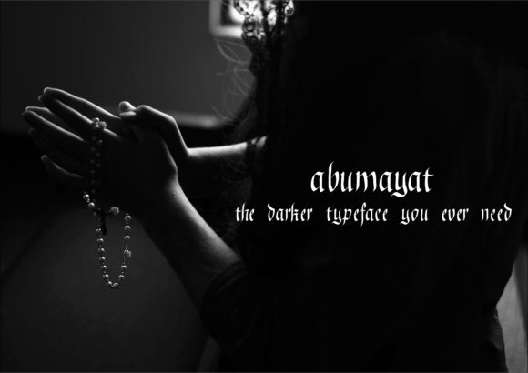 Print on Demand: Abumayat Blackletter Font By little scar - Image 5