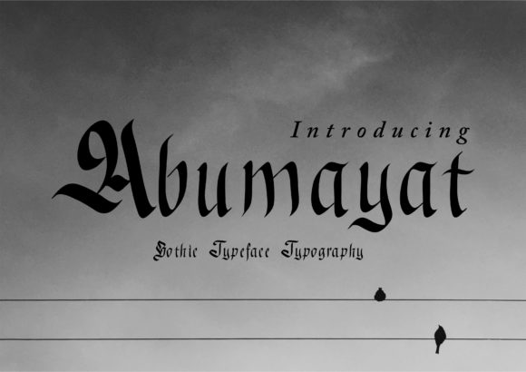 Print on Demand: Abumayat Blackletter Font By little scar