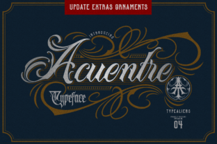 Print on Demand: Acuentre Blackletter Font By typealiens