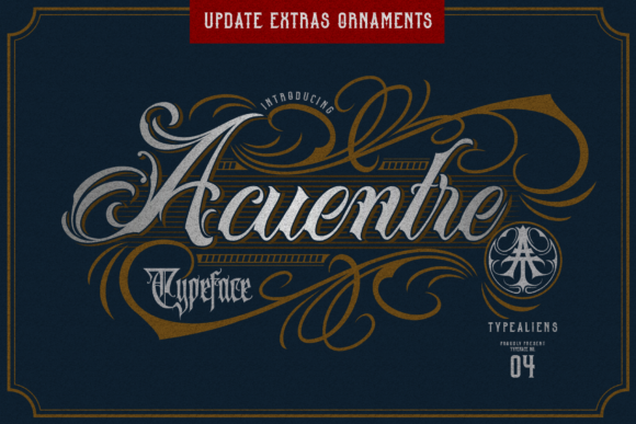 Print on Demand: Acuentre Blackletter Font By typealiens - Image 1