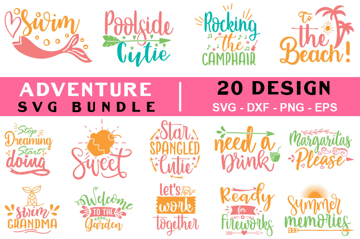 Download Free Adventure Quotes Bundle Graphic By Handmade Studio Creative for Cricut Explore, Silhouette and other cutting machines.