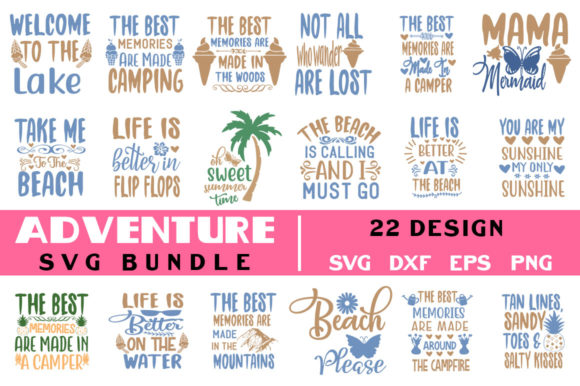 Adventure Svg Bundle Graphic Crafts By Handmade studio