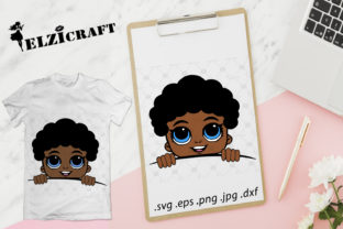Afro Baby Boy Peeking Design Graphic Crafts By elzicraft