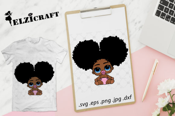 Afro Baby Design Graphic Crafts By elzicraft