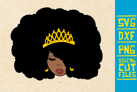 Afro Queen Graphic By Svgyeahyouknowme Creative Fabrica