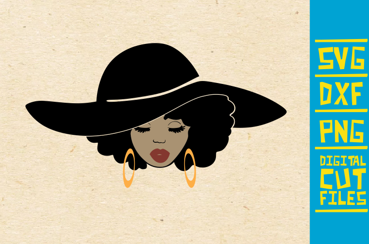 Download Free Afro Woman With Hat Graphic By Svgyeahyouknowme Creative Fabrica for Cricut Explore, Silhouette and other cutting machines.