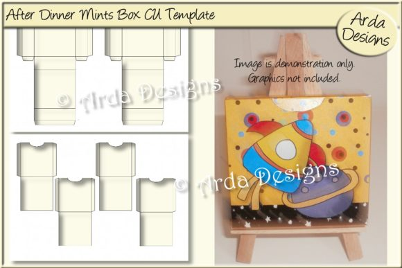 Print on Demand: After Dinner Mints Boxes CU Template Graphic Print Templates By Arda Designs