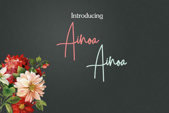 Print on Demand: Ainoa Script & Handwritten Font By bansxcute