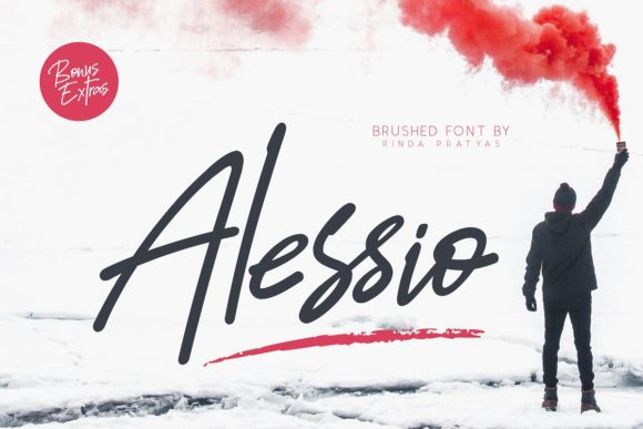 Print on Demand: Alessio Script & Handwritten Font By Rinda Pratyas