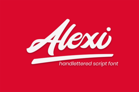 Print on Demand: Alexi Script & Handwritten Font By rimbun bambu