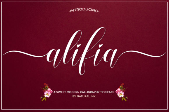 Alifia Script & Handwritten Font By Natural Ink