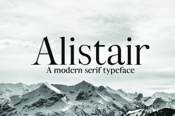 Print on Demand: Alistair Serif Font By denestudios - Image 1