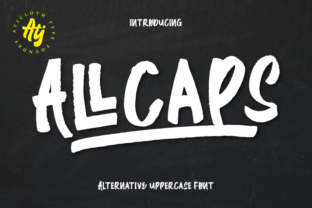 Download Free All Caps Font By Atjcloth Studio Creative Fabrica for Cricut Explore, Silhouette and other cutting machines.